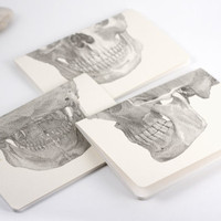 Set of 3 Skull notebooks - Handbound