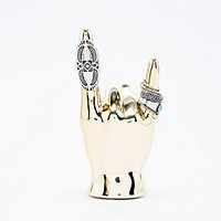 Rock On Hand Ring Holder in Gold - Urban Outfitters