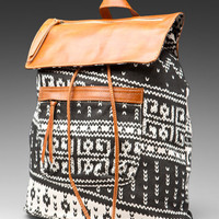 Brandy Melville Backpack in Leather/Tribal Print from REVOLVEclothing.com