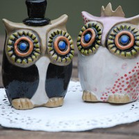 Wedding cake toppers Handmade ceramic custom MADE by claylicious