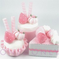 Ready to Ship Felt Cake Dessert Set 3 Pretty in by onenonly88