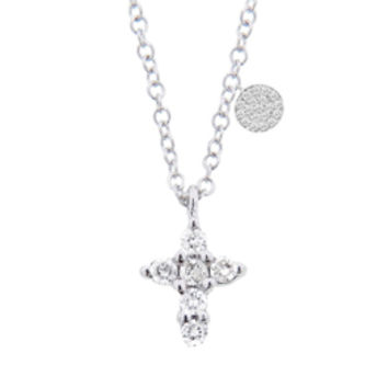 Miera T Diamond Cross Necklace