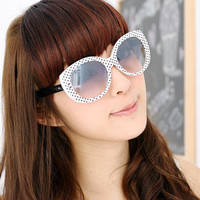 YESSTYLE: 59 Seconds- Dotted Sunglasses (White and Black - One Size)