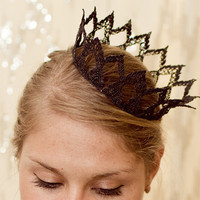 Dark Queen Fairytale Black Lace Crown