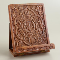 Hand-Carved Wood Tablet Stand - World Market