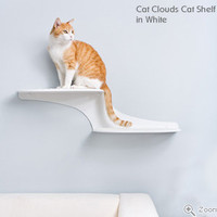 Cat Clouds Cat Shelf from The Refined Feline. Cat Walk. Wall Cat Perch