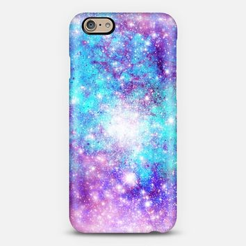Turquoise Lilac Galaxy Stars iPhone 6 case by Organic Saturation | Casetify