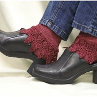 SLC2-Signature Lace Sock-cabernet