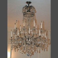 Nestle empire crystal chandelier copper over brass - Chandeliers - Lighting