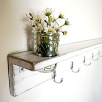 Shabby Chic Furniture Shelf Vase wall organizer by OldNewAgain