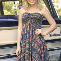 Queen Of The Campground Dress: Multi
