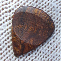 Wood Guitar Pick - Handmade Exotic Arizona Desert Ironwood - Premium Guitar Pick