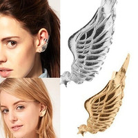 Gold Angel Wing Clip Ear Cuff (non piercing)