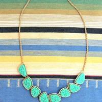 Wanderlust Druzy Stone Necklace in Aqua -  $20.00 | Daily Chic Accessories | International Shipping
