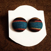 Tribal Fabric Covered Earrings