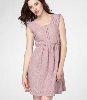 Tulle Dusty Rose Lace Dress