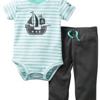 Carter's Baby Boys' 2 Piece Interlock Bodysuit Set (Baby) - Gray - 24 Months