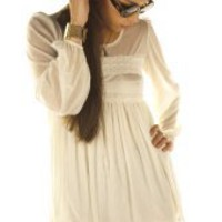 PrettySunday ? White mini Lily dress 3849