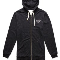 Diamond Supply Co Diamond Front Double Zip Fleece Hoodie - Mens Hoodie
