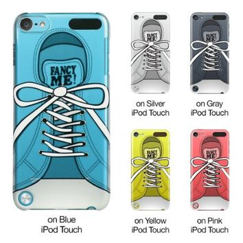 iPod Touch 5th Case, ESR Fancy Series Hard Clear Back Cover Snap on Case With Cute Pattern for iPod Touch 5 5th Generation (Sneakers)