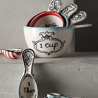 Crowned Leaf Measuring Cups by Anthropologie Multi Meas