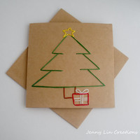 Christmas Tree Card / Holiday Card with Envelope