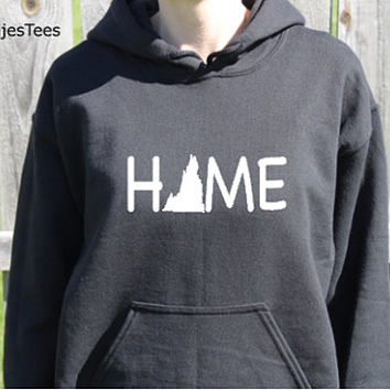 Virginia Home Hoodie, Virginia Sweatshirt, State, Home,