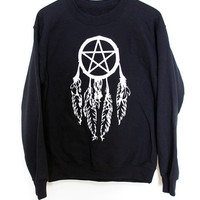 Crew Sweater // Pentagram Dreamcatcher BMA Small