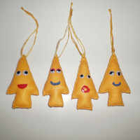 Christmas Tree Felt Ornaments - Set of 12