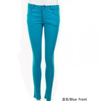 Women Spring New Euro Style Vintage VIVI Fashion Cotton Blue Pants S/M/L@TS120114bl $31.99 only in eFexcity.com.
