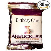 Arbuckle's Fine Roasted Coffee, Birthday Cake, Ground Coffee, 1.3-Ounce Bags (Pack of 30): Amazon.com: Grocery & Gourmet Food