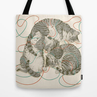 cats Tote Bag by Laura Graves