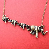 Dotoly | Elephant Animal Charm Necklace in Bronze | Online Store Powered by Storenvy
