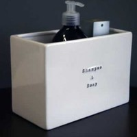 Ceramic Shampoo  Soap Storage - stand alone or wall mounted