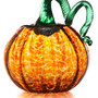 GLASS PUMPKIN | Orange Glass Pumpkins, Glass Pumpkin Sculpture, Handmade Halloween Decorations, Handmade Fall Decorations, Thanksgiving Decorations | UncommonGoods