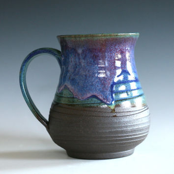 EXTRA LARGE 32 oz Coffee Mug, handthrown ceramic stoneware pottery mug, unique coffee mug