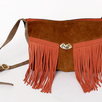 New Collection: It's Savage //Tribu Suede in brown/ orange // Made to order //