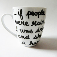 Looking for Alaska by John Green - quote mug // hand-drawn/written