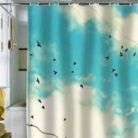 DENY Designs Home Accessories | Shannon Clark Blue Skies Ahead Shower Curtain
