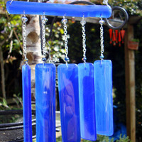 Hanging glass suncatcher, decoration wind chime