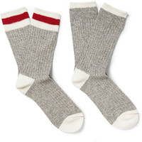 Beams Plus - Two-Pack Ribbed Cotton-Blend Socks | MR PORTER