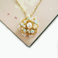 Wedding Pearl Necklace Bridal Jewelry Gold Lace Crystal Gold Fill Chain Snowflake