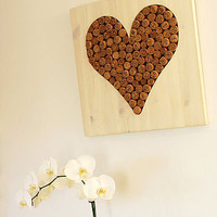 champagne corks &#x27;love heart&#x27; wall hanging by lumme | notonthehighstreet.com