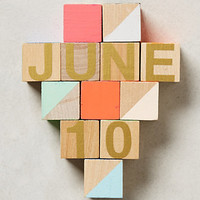 Month & Day Woodblock Calendar by Anthropologie Multi One Size Gifts