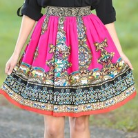 Brunching In Buckhead Skirt-Magenta