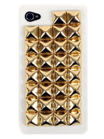 GYPSY WARRIOR - Gold Studded White iPhone Case