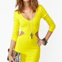 Blaze Cutout Dress - Yellow