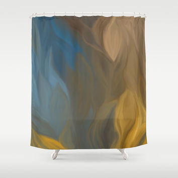 abstract 1001 Shower Curtain by Ramon Martinez Jr
