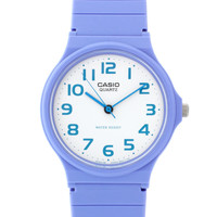 Casio Watch MQ-24CC-6BEF with Blue Analogue Dial and Blue Resin Strap at asos.com