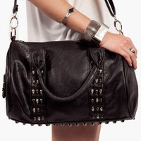 Skull and Stud Satchel Bag $53 (on sale from $77)